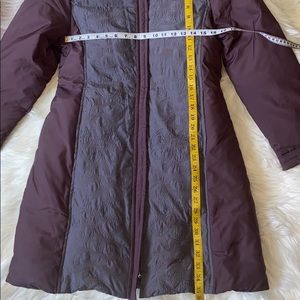 Via Spiga Jackets & Coats - Via Spiga Long Floral Purple Winter Jacket Coat M